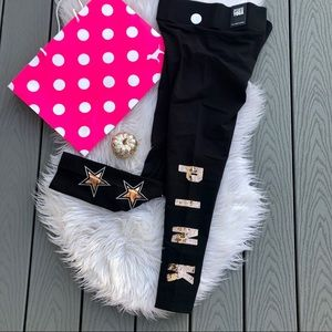 VS PINK star sequin leggings